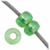 Czech Seedbead 11/0 Green Rainbow Silverlined